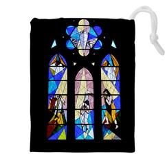 Art Church Window Drawstring Pouches (xxl)