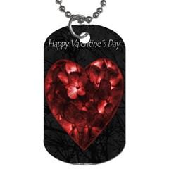 Dark Elegant Valentine Day Poster Dog Tag (One Side)