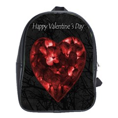 Dark Elegant Valentine Day Poster School Bags(Large)