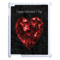 Dark Elegant Valentine Day Poster Apple iPad 2 Case (White)