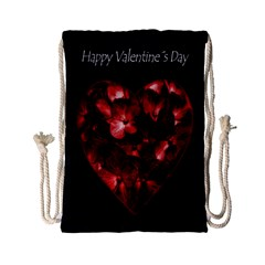 Dark Elegant Valentine Day Poster Drawstring Bag (Small)