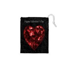 Dark Elegant Valentine Day Poster Drawstring Pouches (XS)