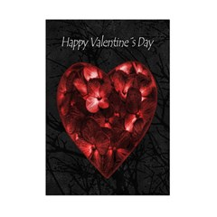 Dark Elegant Valentine Day Poster Small Tapestry