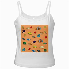 School Rocks! White Spaghetti Tank