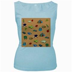 School Rocks! Women s Baby Blue Tank Top
