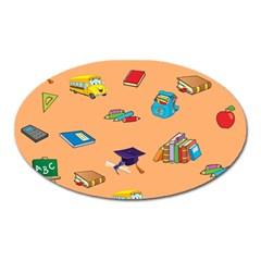 School Rocks! Oval Magnet
