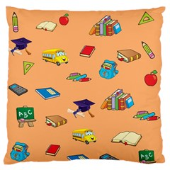 School Rocks! Large Flano Cushion Case (Two Sides)