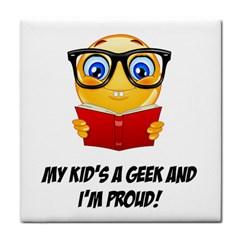 Geek Kid Tile Coasters