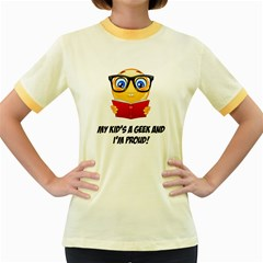 Geek Kid Women s Fitted Ringer T-Shirts