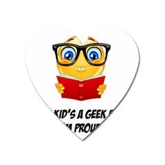 Geek Kid Heart Magnet