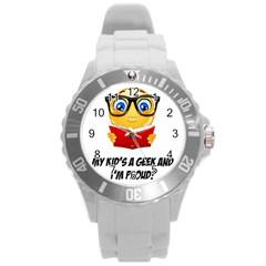 Geek Kid Round Plastic Sport Watch (l)