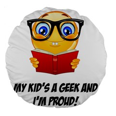 Geek Kid Large 18  Premium Round Cushions