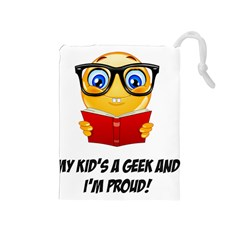 Geek Kid Drawstring Pouches (Medium)