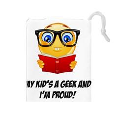 Geek Kid Drawstring Pouches (Large)