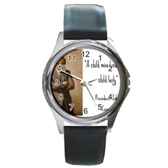 A Child is Miseducated... Round Metal Watch