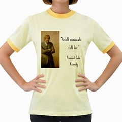 A Child Is Miseducated    Women s Fitted Ringer T Shirts