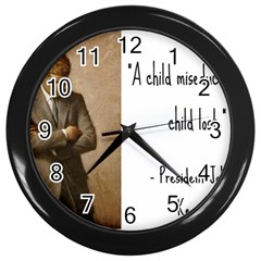 A Child is Miseducated... Wall Clocks (Black)