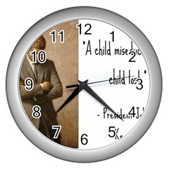 A Child is Miseducated... Wall Clocks (Silver)