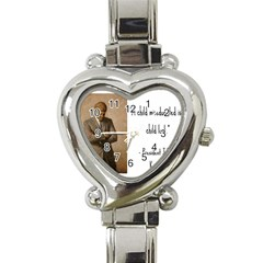 A Child is Miseducated... Heart Italian Charm Watch