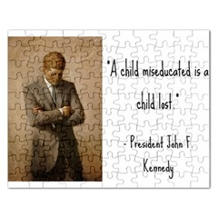 A Child is Miseducated... Rectangular Jigsaw Puzzl