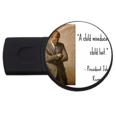 A Child is Miseducated... USB Flash Drive Round (4 GB)