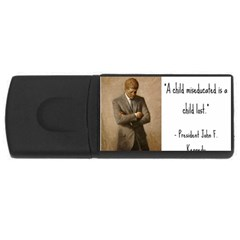 A Child is Miseducated... USB Flash Drive Rectangular (4 GB)