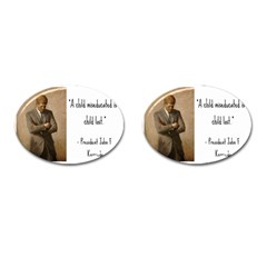 A Child is Miseducated... Cufflinks (Oval)