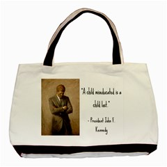 A Child is Miseducated... Basic Tote Bag (Two Sides)