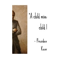 A Child is Miseducated... Shower Curtain 48  x 72  (Small)