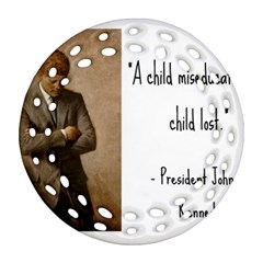 A Child is Miseducated... Round Filigree Ornament (Two Sides)