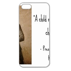 A Child is Miseducated... Apple Seamless iPhone 5 Case (Clear)