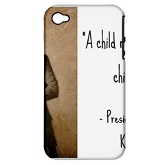 A Child is Miseducated... Apple iPhone 4/4S Hardshell Case (PC+Silicone)