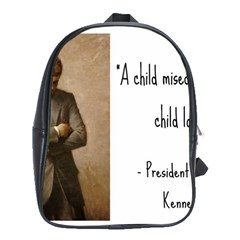 A Child is Miseducated... School Bags (XL)
