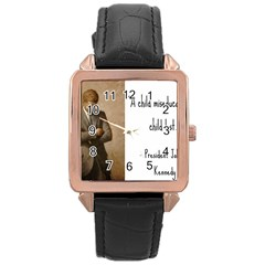 A Child is Miseducated... Rose Gold Leather Watch
