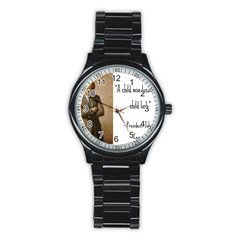 A Child is Miseducated... Stainless Steel Round Watch