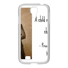 A Child is Miseducated... Samsung GALAXY S4 I9500/ I9505 Case (White)