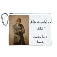 A Child is Miseducated... Canvas Cosmetic Bag (XL)