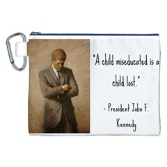 A Child is Miseducated... Canvas Cosmetic Bag (XXL)