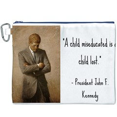 A Child is Miseducated... Canvas Cosmetic Bag (XXXL)