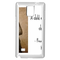 A Child is Miseducated... Samsung Galaxy Note 4 Case (White)