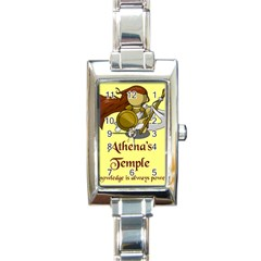 Athena s Temple Rectangle Italian Charm Watch