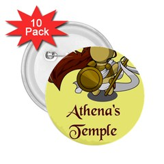 Athena s Temple 2.25  Buttons (10 pack)