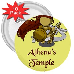 Athena s Temple 3  Buttons (10 pack)