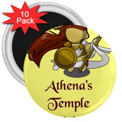 Athena s Temple 3  Magnets (10 pack)