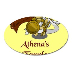Athena s Temple Oval Magnet