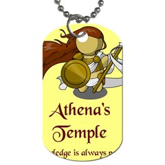 Athena s Temple Dog Tag (Two Sides)