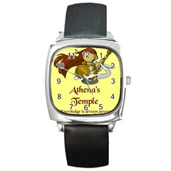 Athena s Temple Square Metal Watch