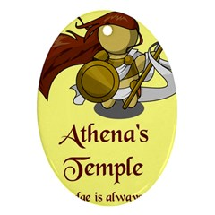 Athena s Temple Oval Ornament (Two Sides)