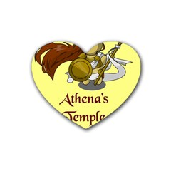 Athena s Temple Heart Coaster (4 pack)
