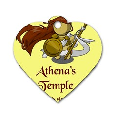 Athena s Temple Dog Tag Heart (One Side)
